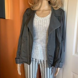 Old Navy gray cotton spandex Moto jacket